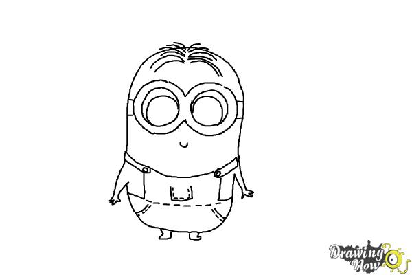 How to Draw a Chibi Minion - Step 9