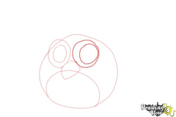 How to Draw a Chibi Angry Bird - Step 5