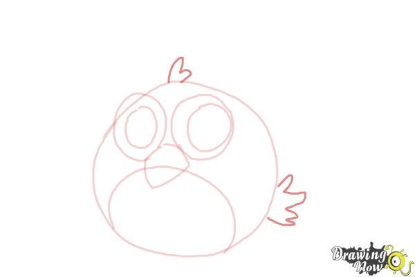 How to Draw a Chibi Angry Bird - Step 6