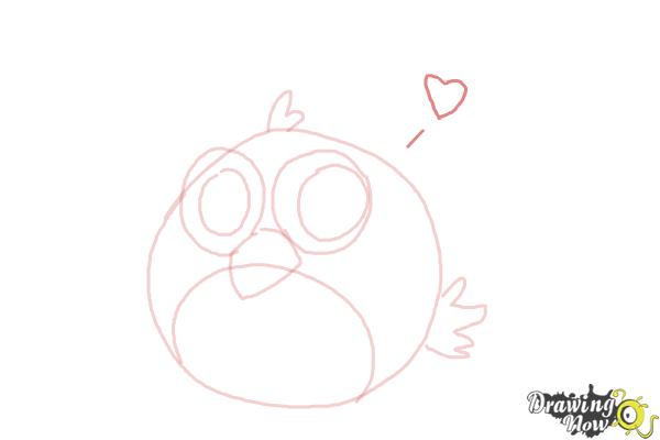 How to Draw a Chibi Angry Bird - Step 7