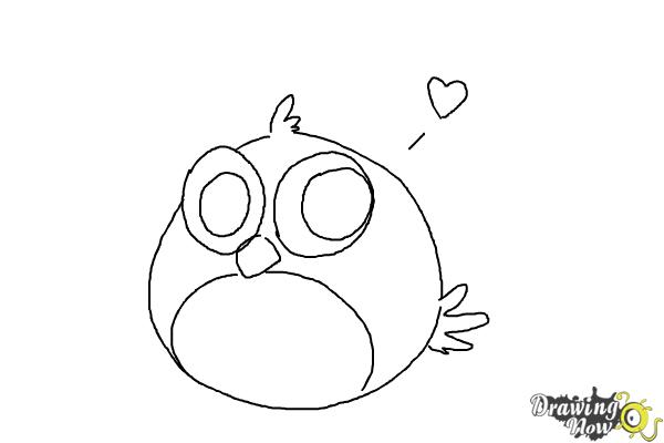 How to Draw a Chibi Angry Bird - Step 8