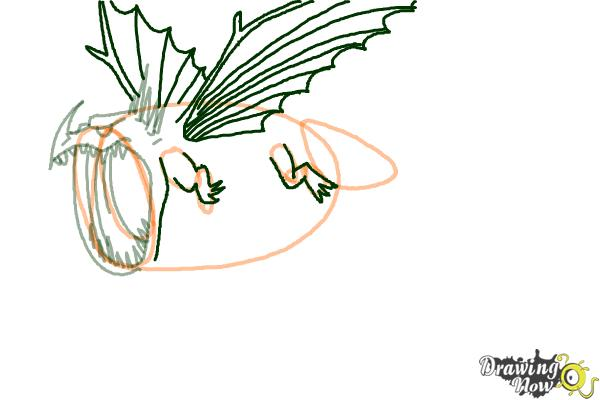 How to Draw a Thunderdrum Dragon from How to Train Your Dragon - Step 4