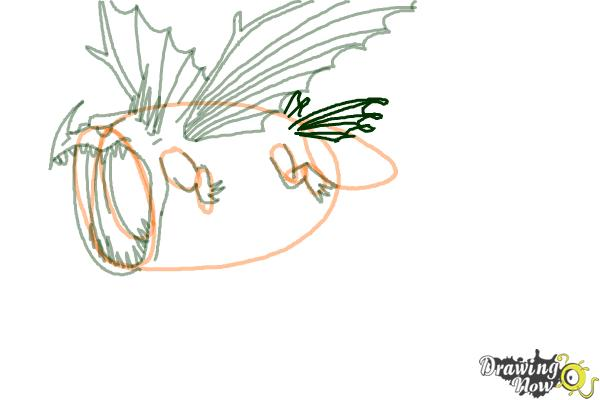 How to Draw a Thunderdrum Dragon from How to Train Your Dragon - Step 5