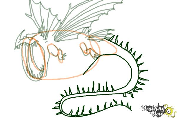 How to Draw a Thunderdrum Dragon from How to Train Your Dragon - Step 6
