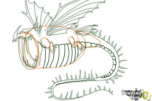 How to Draw a Thunderdrum Dragon from How to Train Your Dragon - Step 7