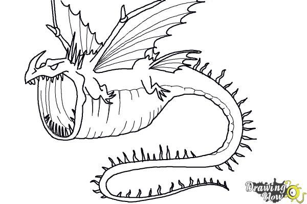 How to draw a thunderdrum dragon from how to train your for How to train your dragon 2 coloring pages