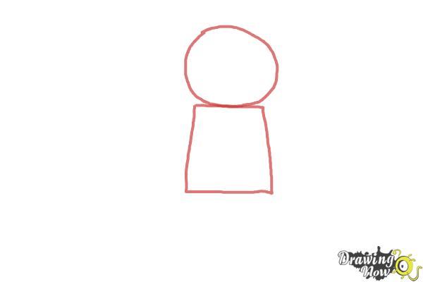 How to Draw The Panda Guy from The Lego Movie - Step 1