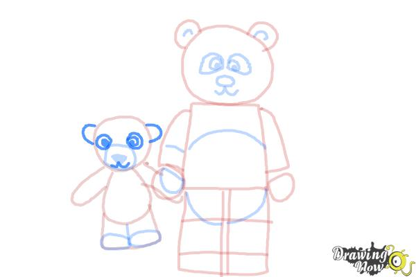 How to Draw The Panda Guy from The Lego Movie - Step 10