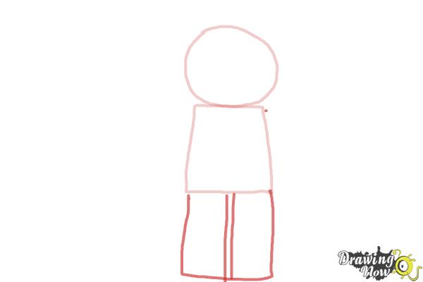 How to Draw The Panda Guy from The Lego Movie - Step 2