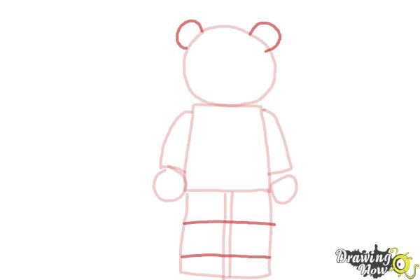 How to Draw The Panda Guy from The Lego Movie - Step 4