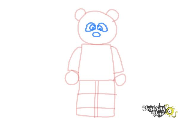 How to Draw The Panda Guy from The Lego Movie - Step 5