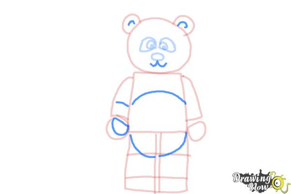 How to Draw The Panda Guy from The Lego Movie - Step 6