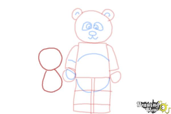 How to Draw The Panda Guy from The Lego Movie - Step 7