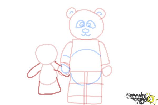 How to Draw The Panda Guy from The Lego Movie - Step 8