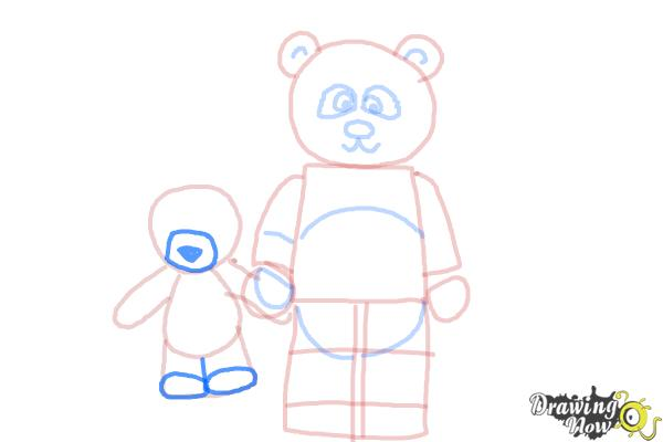 How to Draw The Panda Guy from The Lego Movie - Step 9