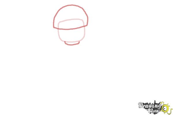 How to Draw Bad Cop from The Lego Movie - Step 2
