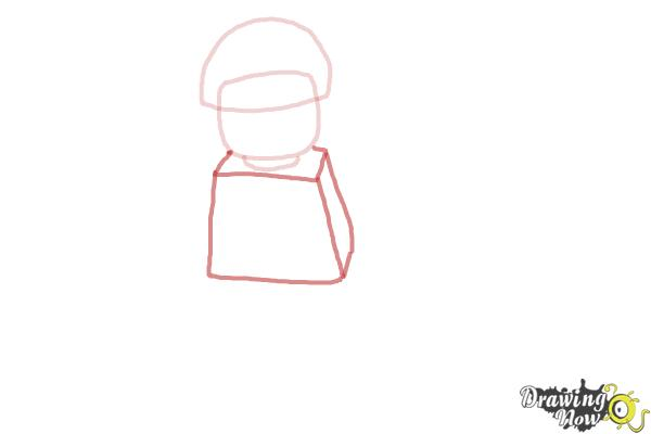 How to Draw Bad Cop from The Lego Movie - Step 3