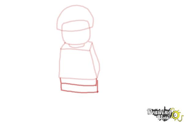 How to Draw Bad Cop from The Lego Movie - Step 4