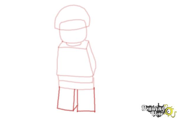 How to Draw Bad Cop from The Lego Movie - Step 5