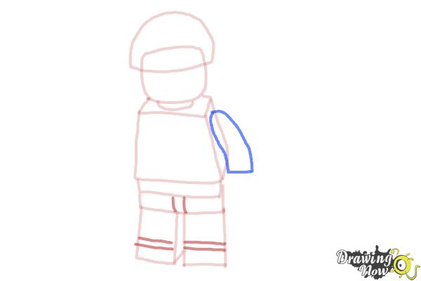 How to Draw Bad Cop from The Lego Movie - Step 6