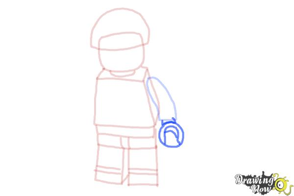 how to draw a lego person