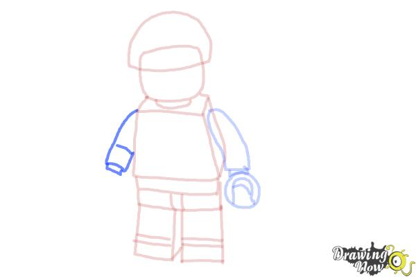 How to Draw Bad Cop from The Lego Movie - Step 8