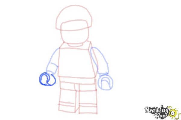 How to Draw Bad Cop from The Lego Movie - Step 9