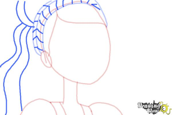 How to Draw Ashlynn Ella The Daughter Of Cinderella from Ever After High - Step 4
