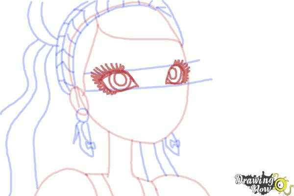 How to Draw Ashlynn Ella The Daughter Of Cinderella from Ever After High - Step 6