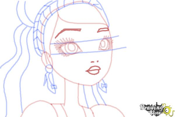 How to Draw Ashlynn Ella The Daughter Of Cinderella from Ever After High - Step 7