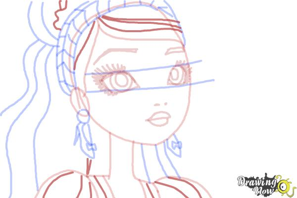 How to Draw Ashlynn Ella The Daughter Of Cinderella from Ever After High - Step 8