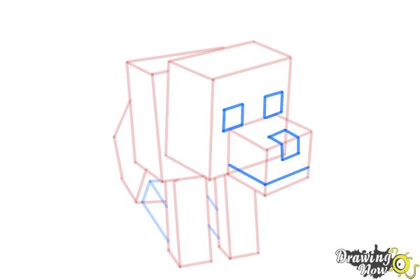 How to Draw a Minecraft Wolf - Step 8