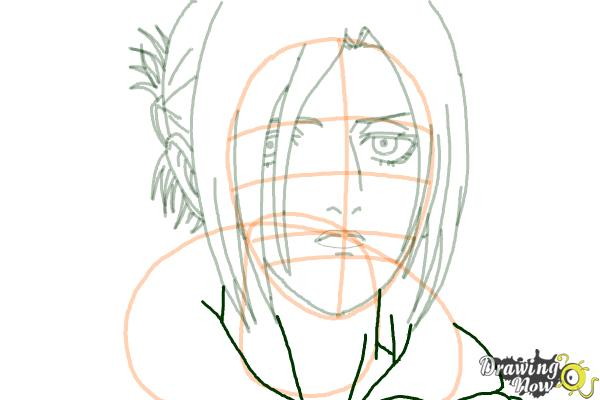 How to Draw Annie Leonhart from Shingeki No Kyojin - Step 13