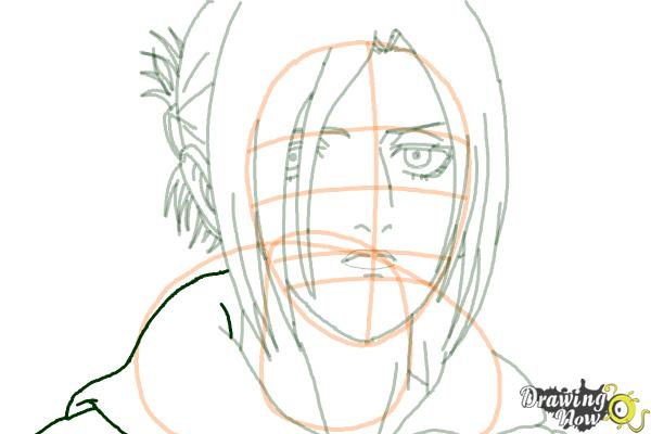 How to Draw Annie Leonhart from Shingeki No Kyojin - Step 14