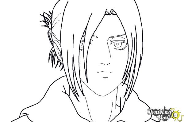 How to Draw Annie Leonhart from Shingeki No Kyojin - Step 15