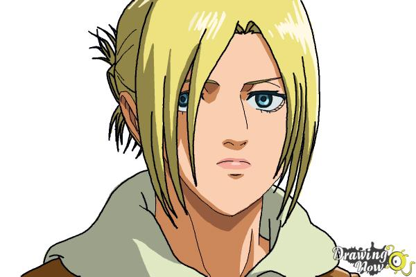 How to Draw Annie Leonhart from Shingeki No Kyojin - Step 16