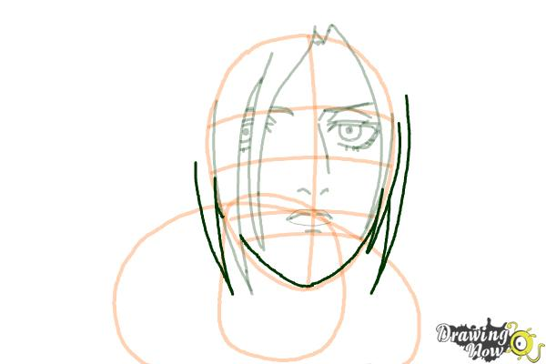 How to Draw Annie Leonhart from Shingeki No Kyojin - Step 9