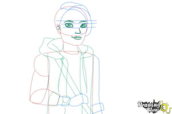 How to Draw Hunter Huntsman The Son Of The Huntsman from Ever After High - Step 10