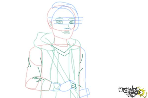 How to Draw Hunter Huntsman The Son Of The Huntsman from Ever After High - Step 11