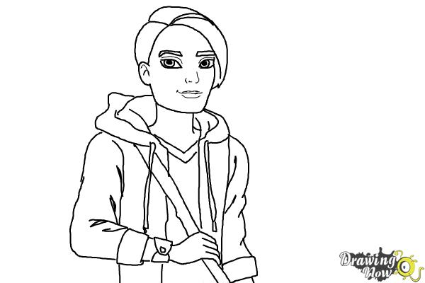 How to Draw Hunter Huntsman The Son Of The Huntsman from Ever After High - Step 12