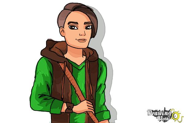 How to Draw Hunter Huntsman The Son Of The Huntsman from Ever After High - Step 13