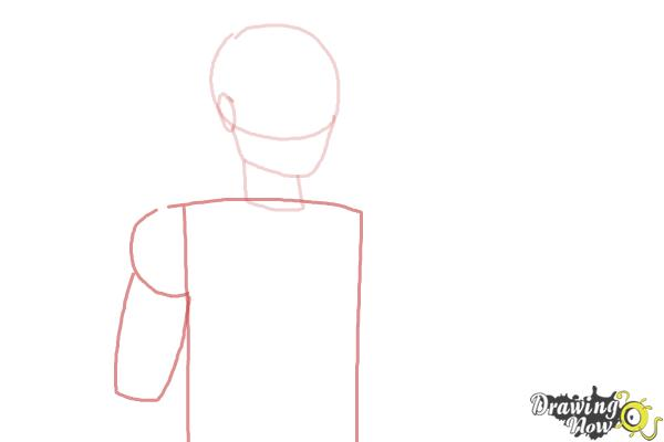 How to Draw Hunter Huntsman The Son Of The Huntsman from Ever After High - Step 3