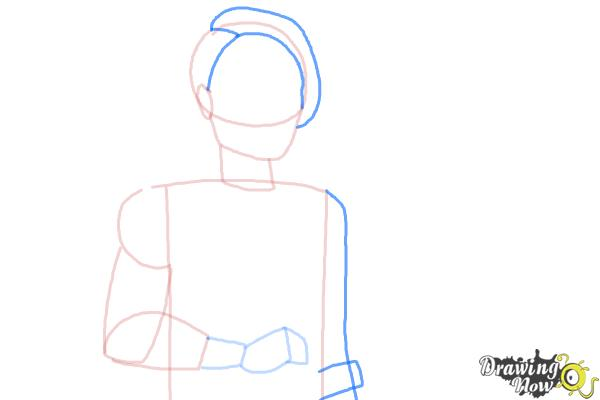 How to Draw Hunter Huntsman The Son Of The Huntsman from Ever After High - Step 5