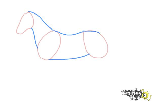 How to draw an easy horse step 2