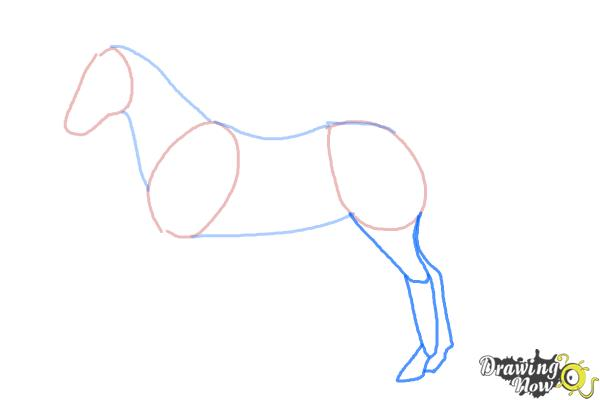 How to Draw an Easy Horse - Step 3
