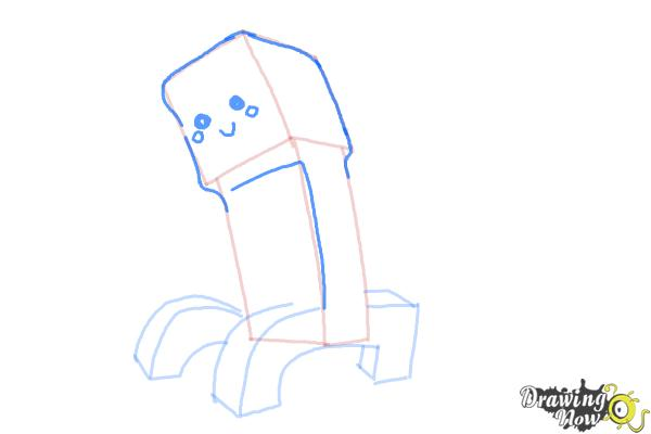 How to Draw a Chibi Minecraft Creeper - Step 7