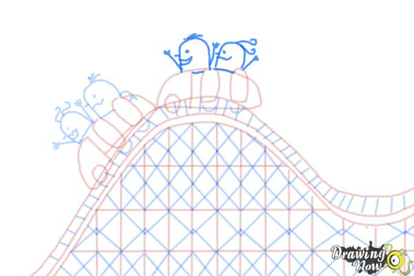 How to Draw a Roller Coaster For Kids - Step 11
