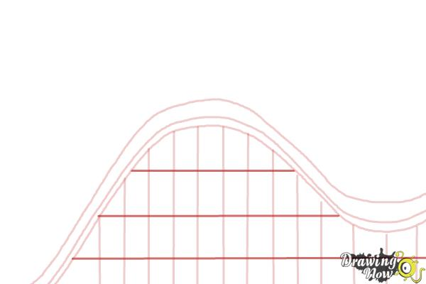 How to Draw a Roller Coaster For Kids - Step 3