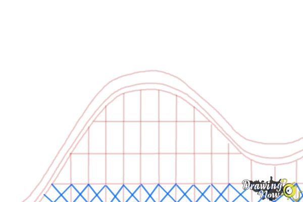 How to Draw a Roller Coaster For Kids - Step 4