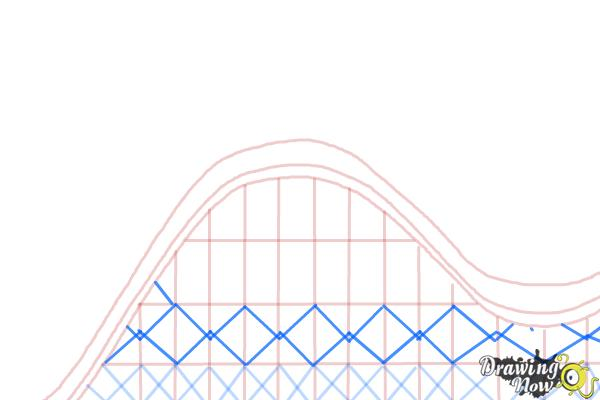How to Draw a Roller Coaster For Kids - Step 5